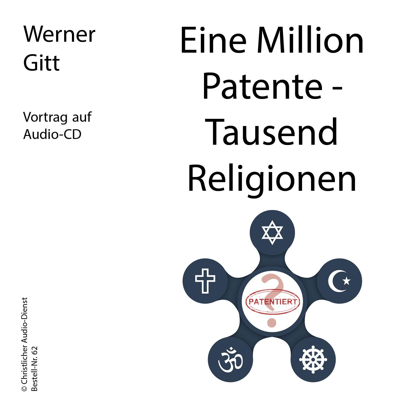 Eine Million Patente – Tausend Religionen (Audio-CD)