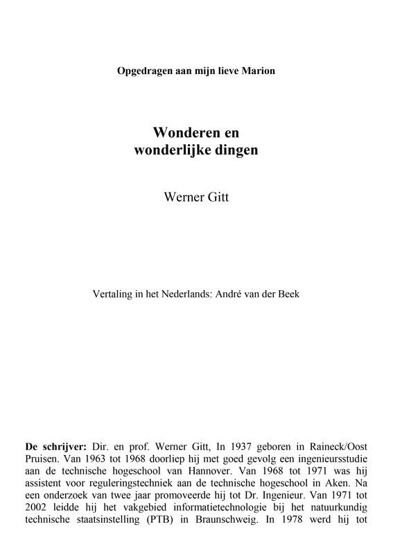 Niederländisch: Wunder und Wunderbares