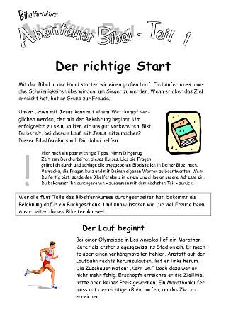 Bibelfernkurs - Abenteuer Bibel (Teil 1)